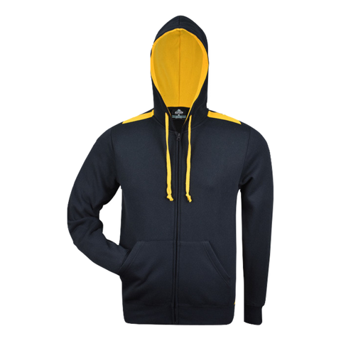Image of Kids Franklin Zip Hoodie, Colours: Navy / Gold