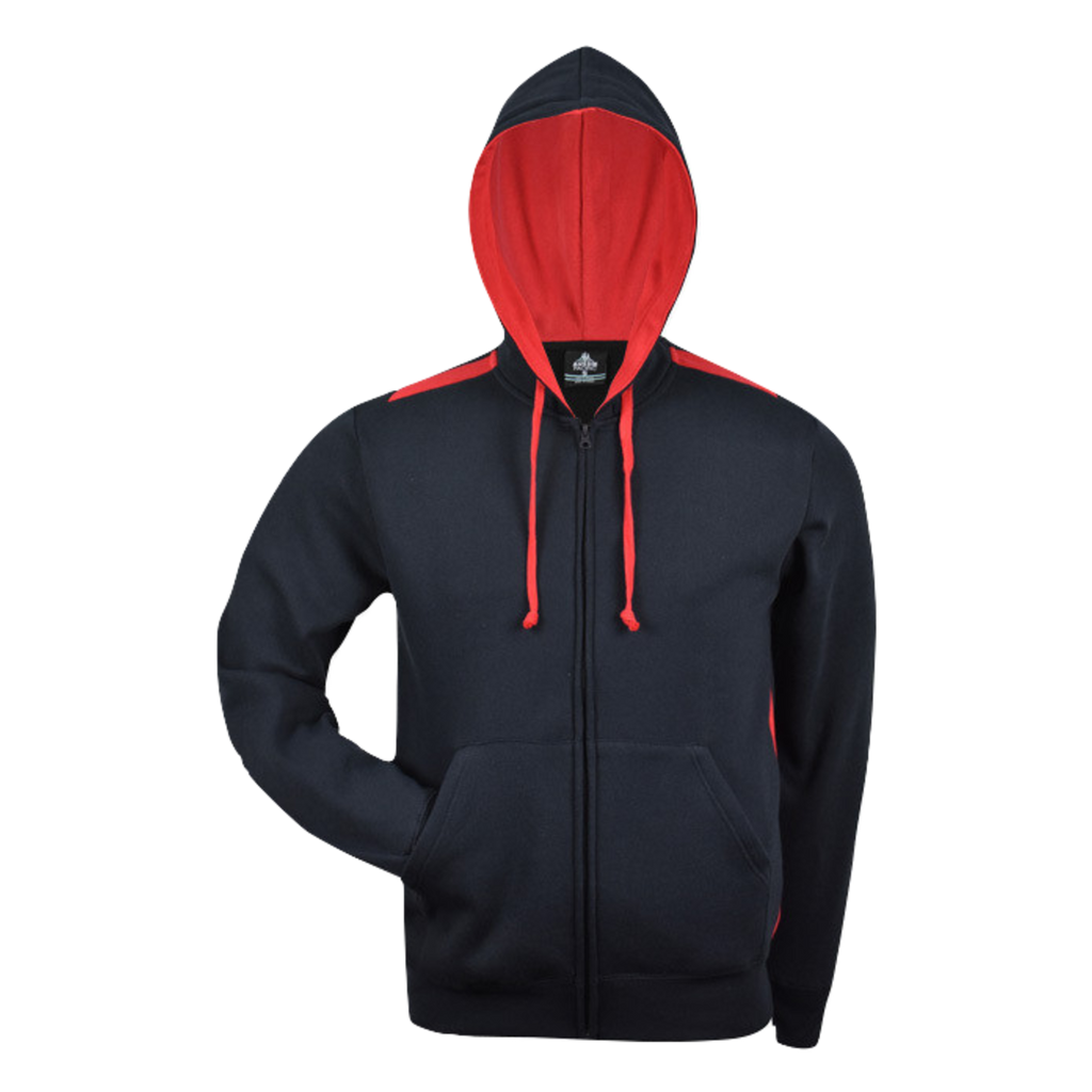 Kids Franklin Zip Hoodie - Colours Navy / Red