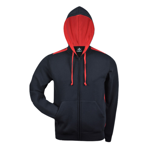 Image of Kids Franklin Zip Hoodie, Colours: Navy / Red