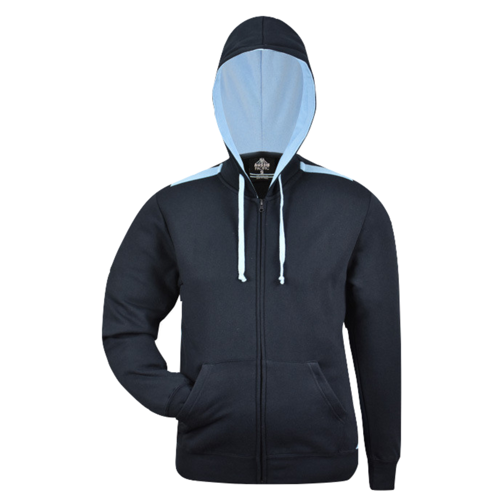 Kids Franklin Zip Hoodie - Colours Navy / Sky