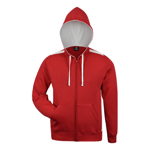 Kids Franklin Zip Hoodie, Colours: Red / White