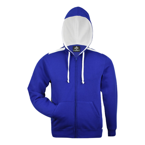 Kids Franklin Zip Hoodie, Colours: Royal / White