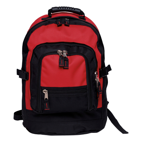 Fugitive Backpack, Colours: Red / Black