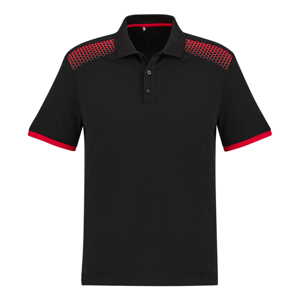 Mens Galaxy Polo, Colours: Black / Red