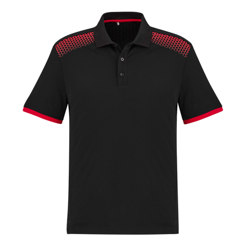 Image of Mens Galaxy Polo, Colours: Black / Red