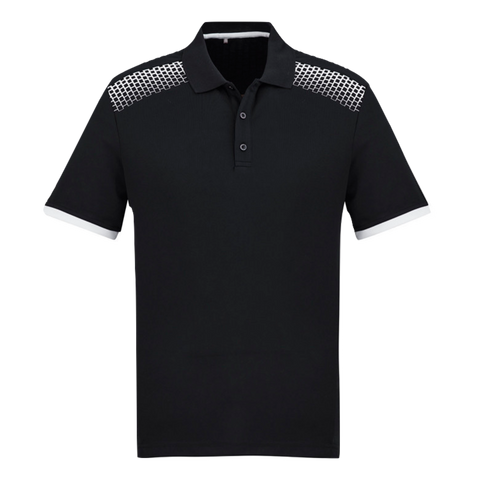 Image of Mens Galaxy Polo - Colours Black / White