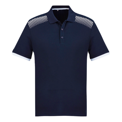 Image of Mens Galaxy Polo, Colours: Navy / White