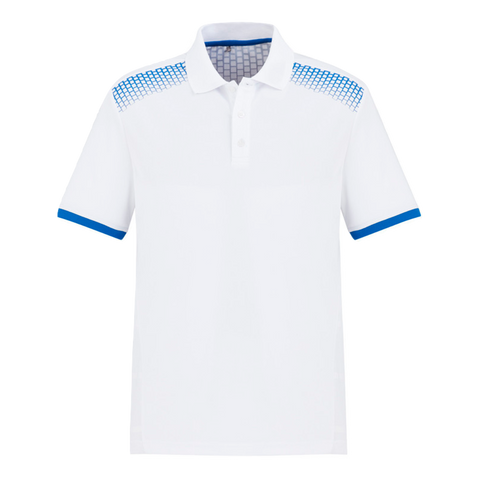 Image of Mens Galaxy Polo, Colours: White / Royal