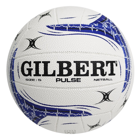 Image of Gilbert Pulse Netball - Size 5 - Colours White