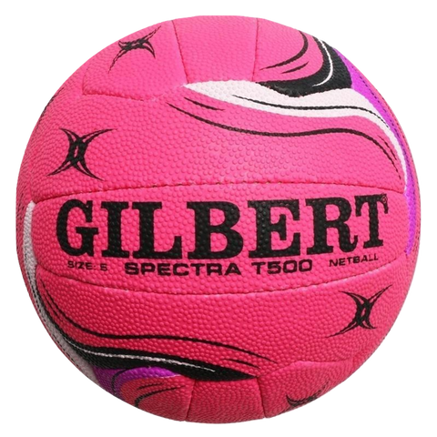 Image of Gilbert Spectra Netball - Size 5 - Colours Pink