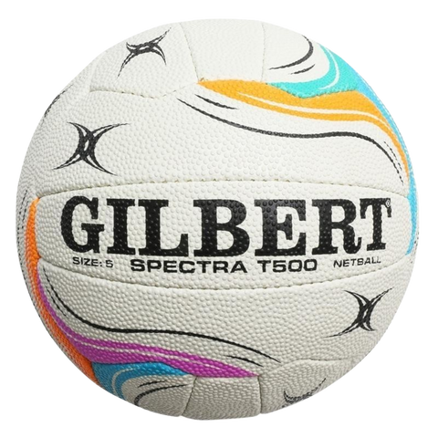 Image of Gilbert Spectra Netball - Size 5 - Colours White