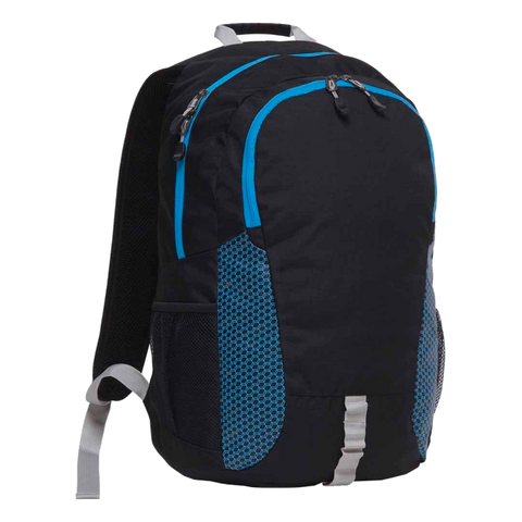 Image of Grommet Backpack, Colours: Black / Cyber Blue