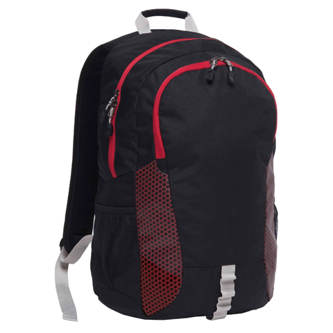 Grommet Backpack, Colours: Black / Red