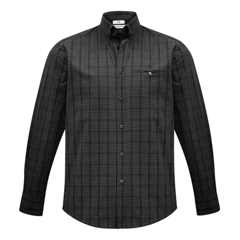 Mens Harper Shirt, Colours: Black / Silver