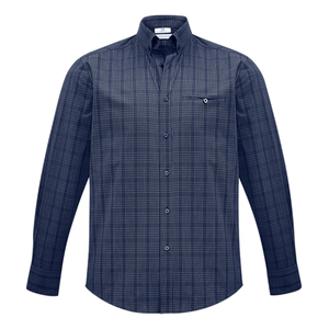 Mens Harper Shirt - Colours Ink / Silver