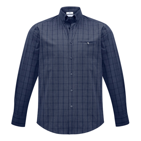 Mens Harper Shirt, Colours: Ink / Silver