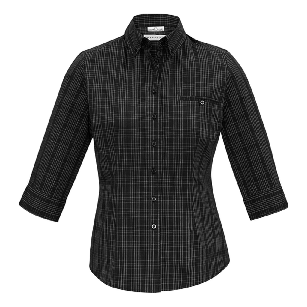 Womens Harper Shirt, Colours: Black / Silver