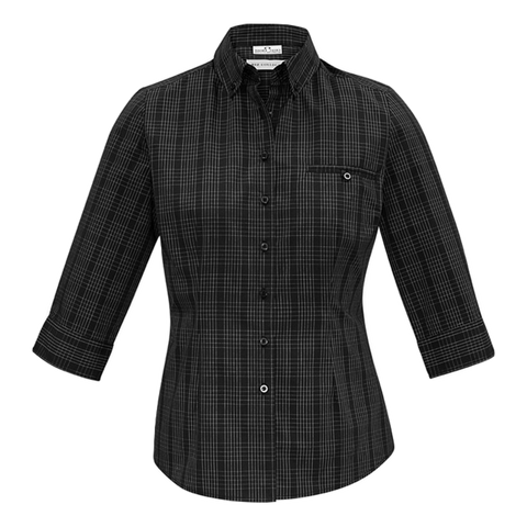 Image of Womens Harper Shirt - Colours Black / Silver