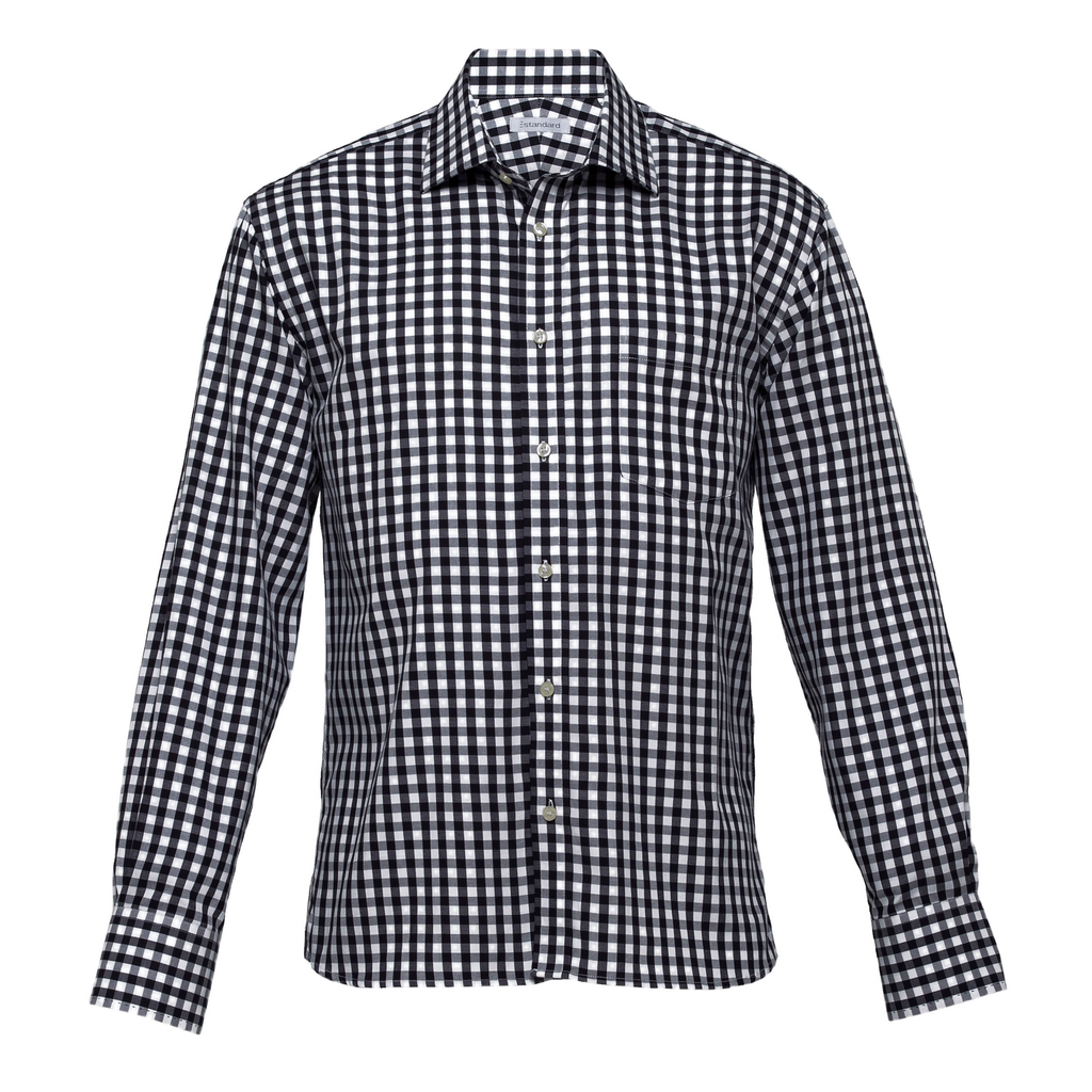 Mens Hartley Check Shirt - Colours Black / White