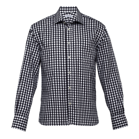 Mens Hartley Check Shirt, Colours: Black / White