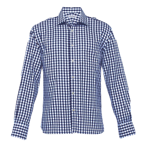 Image of Mens Hartley Check Shirt, Colours: Navy / White