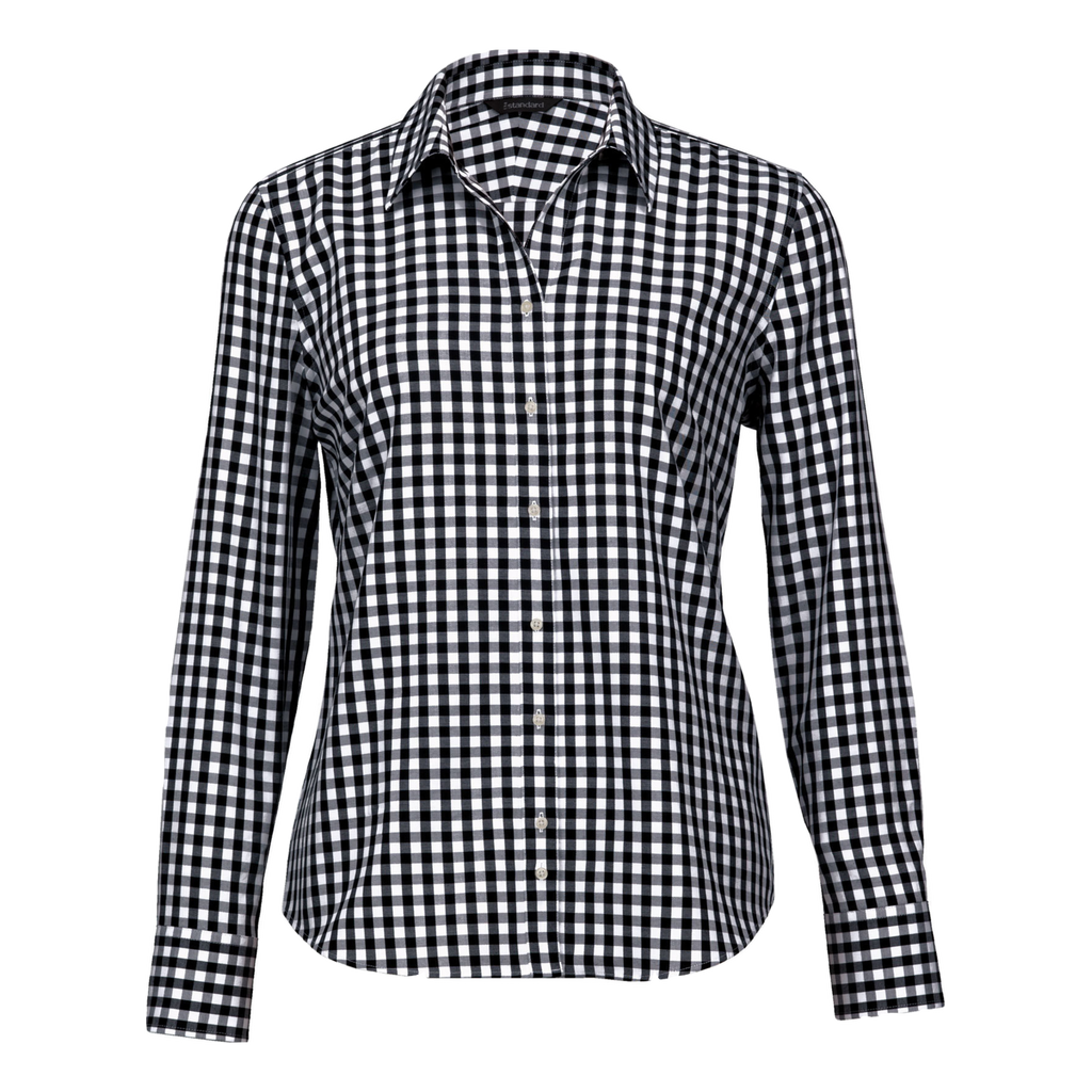 Womens Hartley Check Shirt - Colours Black / White