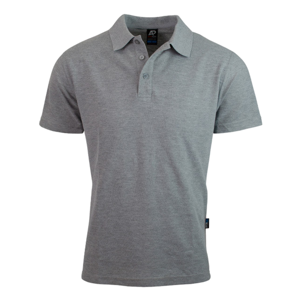 Mens Hunter Polo - Colour Grey Marle