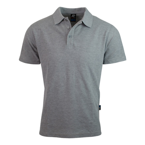Image of Mens Hunter Polo - Colour Grey Marle