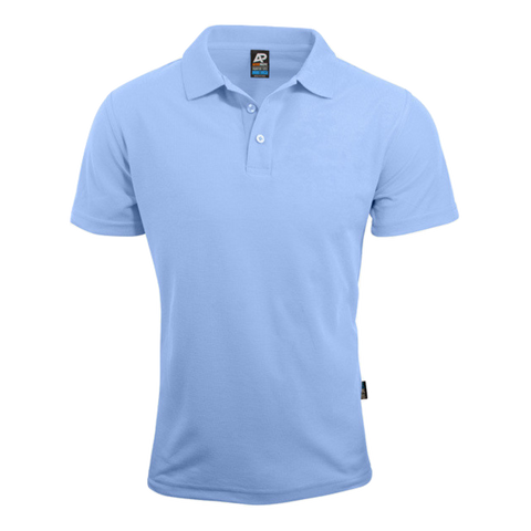 Image of Mens Hunter Polo - Colour Sky