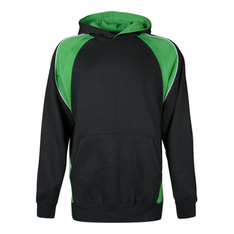Image of Kids Huxley Hoodie, Colours: Black / Green / White