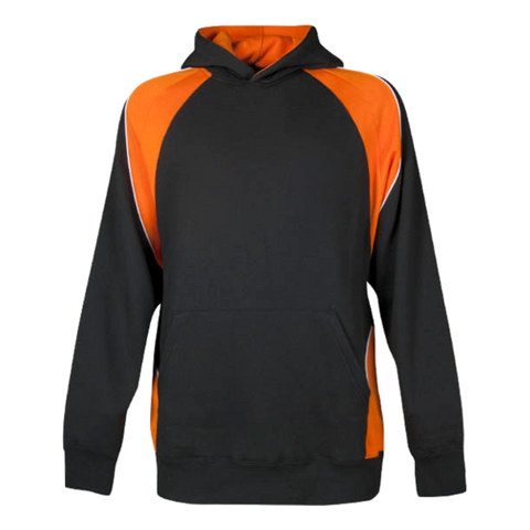 Image of Kids Huxley Hoodie - Colours Black / Orange / White