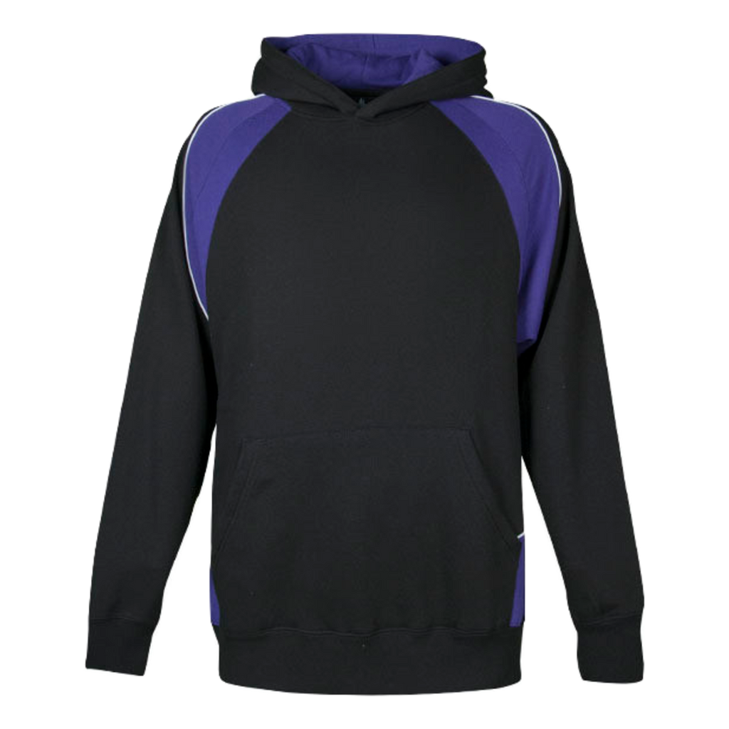 Kids Huxley Hoodie - Colours Black / Purple / White