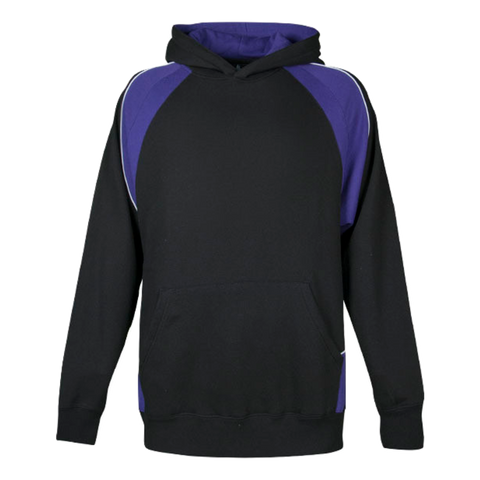 Image of Kids Huxley Hoodie - Colours Black / Purple / White