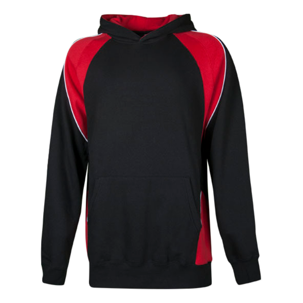 Kids Huxley Hoodie - Colours Black / Red / White