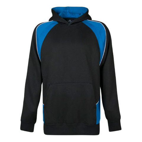 Image of Kids Huxley Hoodie - Colours Black / Royal / White
