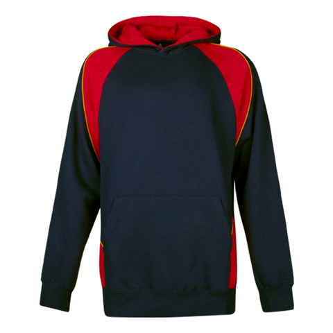 Kids Huxley Hoodie, Colours: Navy / Red / Gold