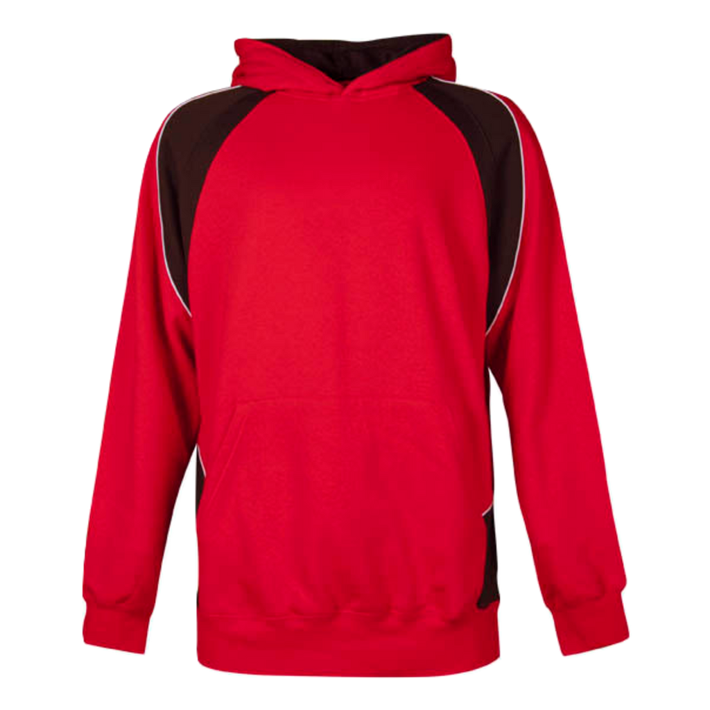 Kids Huxley Hoodie - Colours Red / Black / White