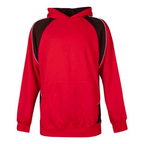 Image of Kids Huxley Hoodie - Colours Red / Black / White