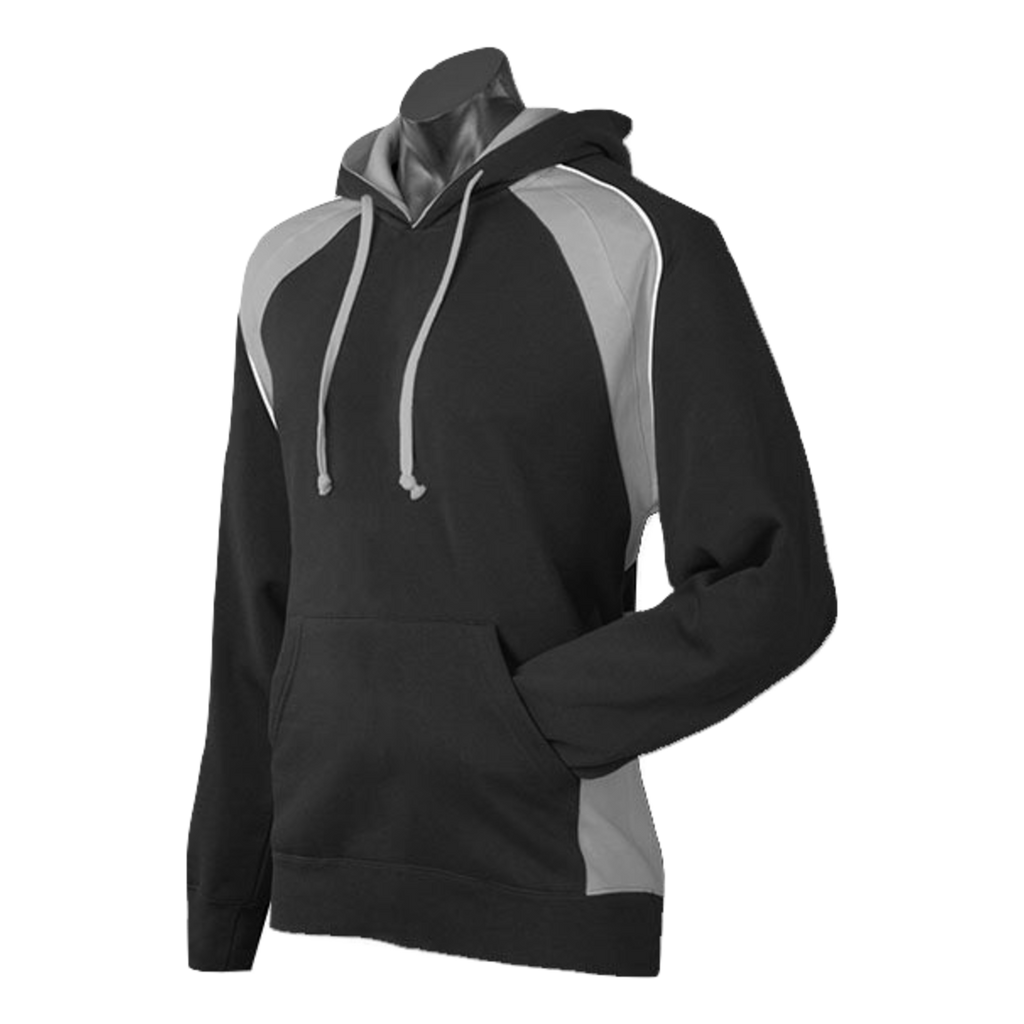 Mens Huxley Hoodie - Colours Black / Ashe / White