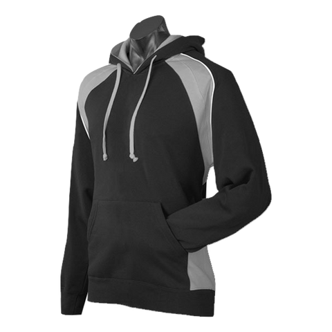 Image of Mens Huxley Hoodie - Colours Black / Ashe / White