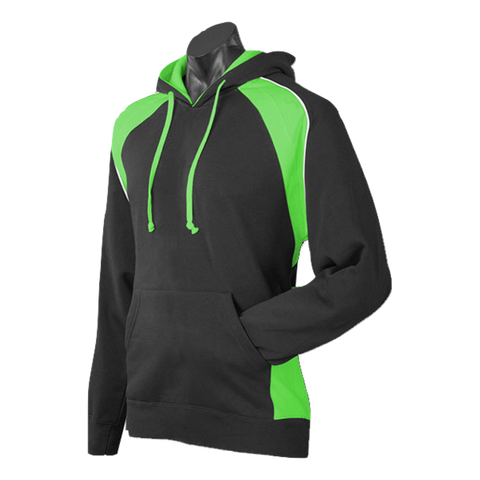 Mens Huxley Hoodie, Colours: Black / Green / White