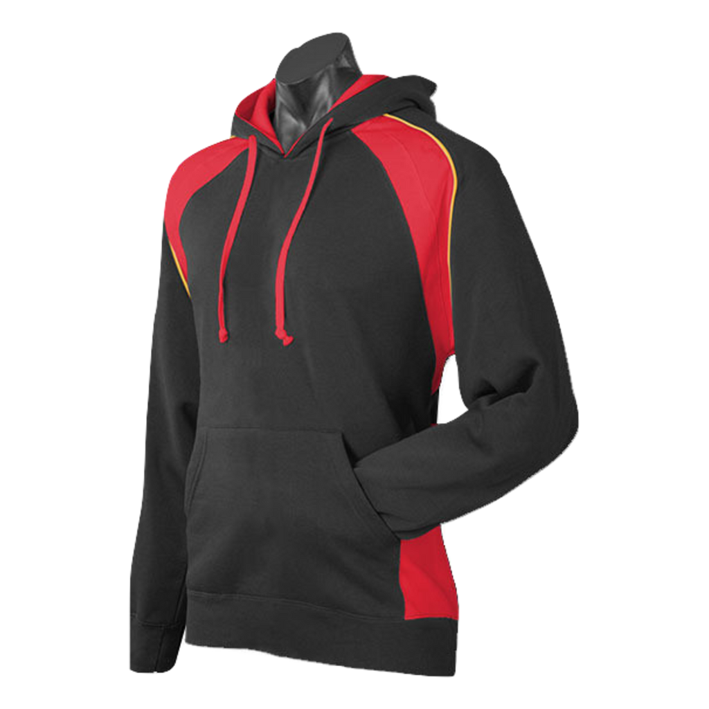 Mens Huxley Hoodie - Colours Black / Red / Gold