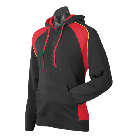 Image of Mens Huxley Hoodie - Colours Black / Red / Gold