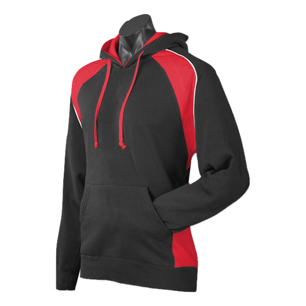 Mens Huxley Hoodie - Colours Black / Red / White