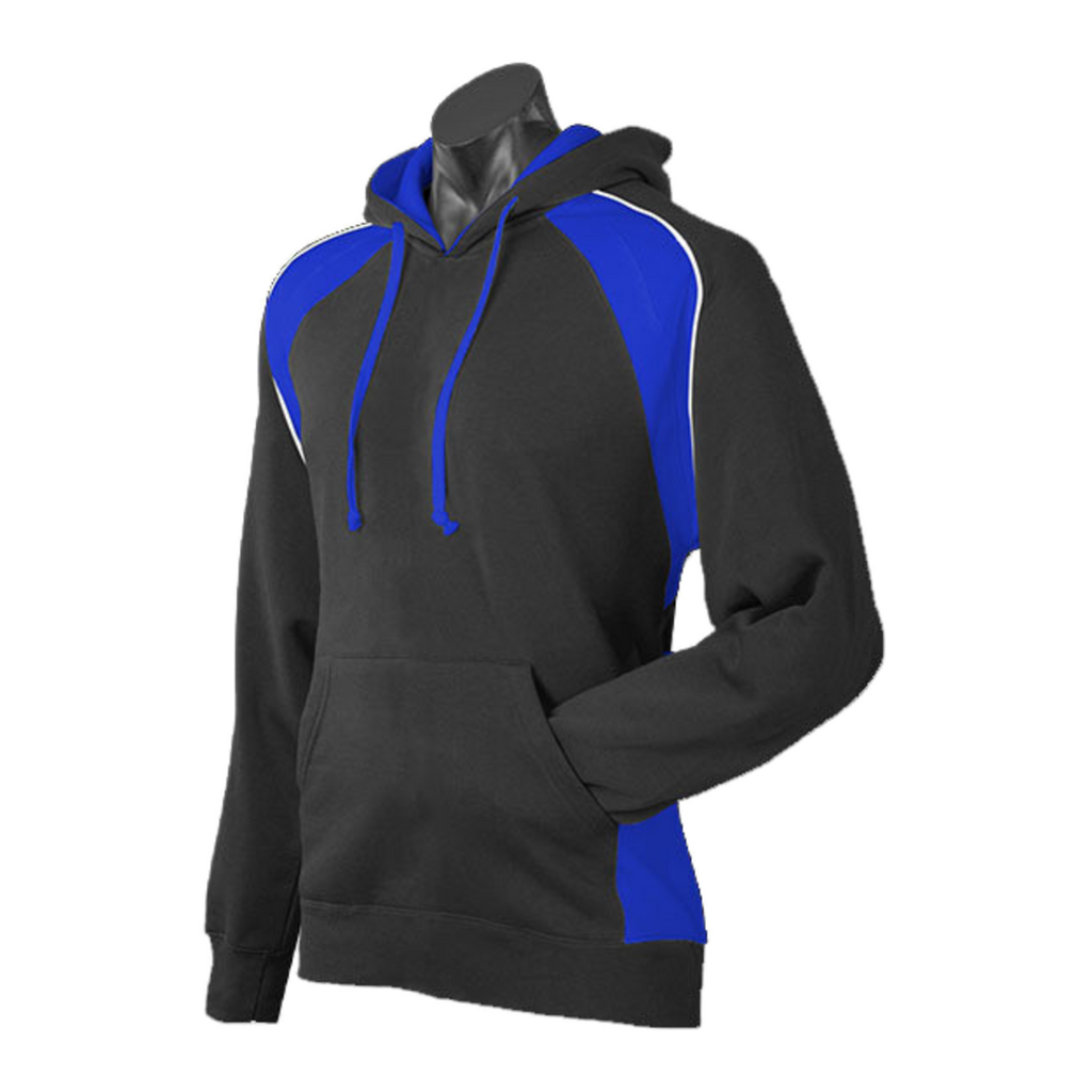 Mens Huxley Hoodie - Colours Black / Royal / White
