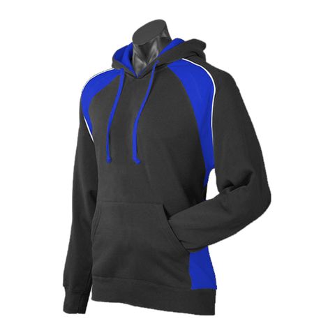 Image of Mens Huxley Hoodie - Colours Black / Royal / White
