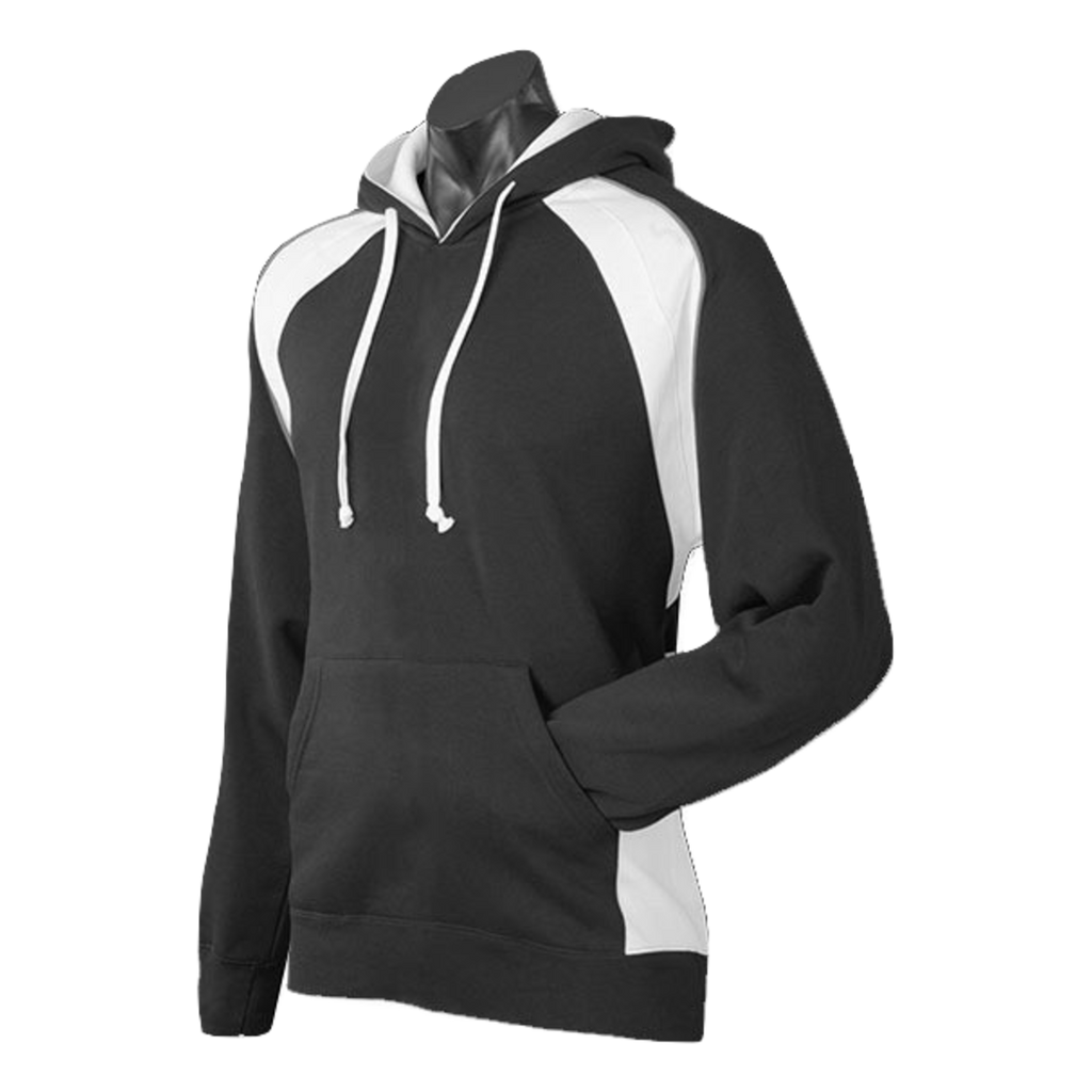 Mens Huxley Hoodie - Colours Black / White / Ashe