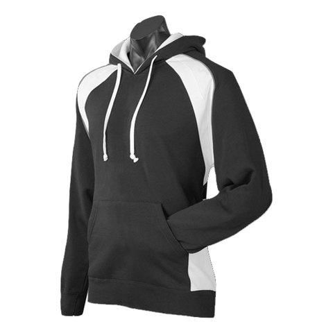 Mens Huxley Hoodie, Colours: Black / White / Ashe