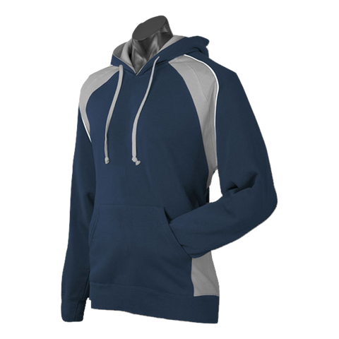 Mens Huxley Hoodie, Colours: Navy / Ashe / White
