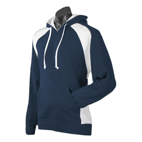 Mens Huxley Hoodie, Colours: Navy / White / Ashe
